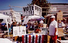 Vote Male booth